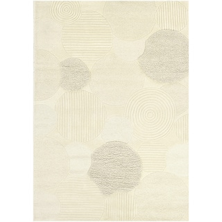 Hand Crafted Super Indo 'Natural Austin' White Wool Rug (8' x 11')