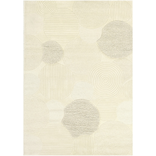 Hand-Crafted Barlow Atria White Area Rug - 8' x 11'