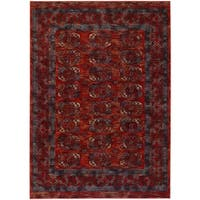 Couristan Timeless Treasures Panel Rust Afghan Wool Area Rug - 4'6 x 6'6