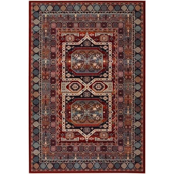 Couristan Timeless Treasures Maharaja/Burgundy Wool Area Rug - 4'6 x 6'6