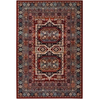 Couristan Timeless Treasures Maharaja/Burgundy Wool Area Rug - 4'6 x 6'6