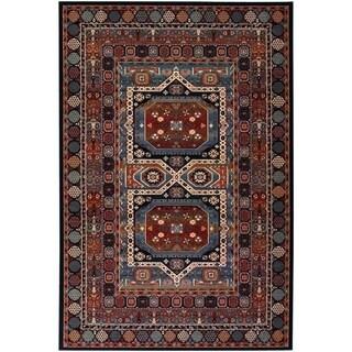 Timeless Treasures Maharaja Ebony/ Black Rug (5'3 x 7'6)