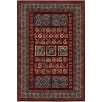 Couristan Timeless Treasures Royal Kazak/Burgundy Wool Area Rug - 5'3 x 7'6