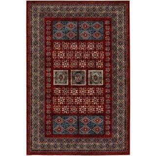 Timeless Treasures Royal Kazak Burgundy Rug (5'3 x 7'6)