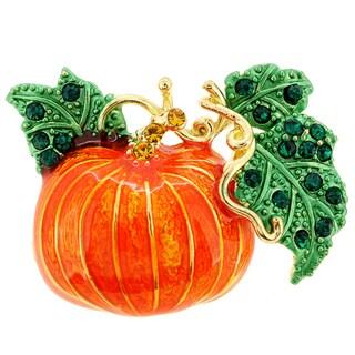 Enamel Pumpkin Halloween Pin Brooch