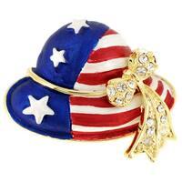 July 4th American Flag Hat Pin Brooch