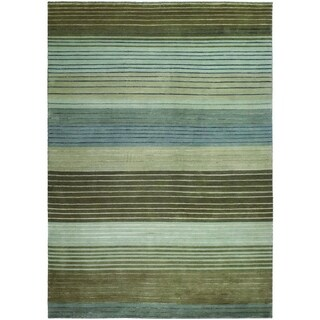Couristan Pokhara Figaro Striped Wool Area Rug - 5'6 x 8'