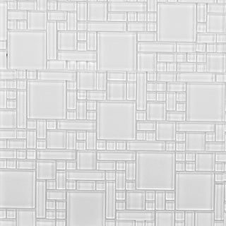 Instant Glass Peel And Stick Avalanche White Mosiac Tile