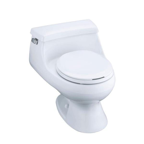 Strange Kohler Rialto Biscuit 1 Piece 1 6 Gpf Round Front Toilet With French Curve Toilet Seat Bralicious Painted Fabric Chair Ideas Braliciousco