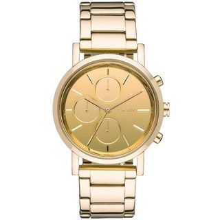 DKNY Women's Mirror Gold-tone Chronograph Watch