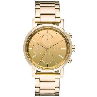 DKNY Women's Mirror Gold-tone Chronograph Watch