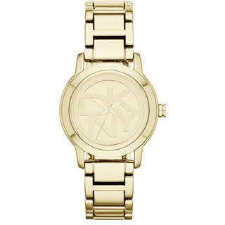 DKNY Women's NY8876 'Crosswalk' Gold Tone Stainless Steel Watch - silver