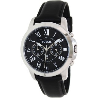 Fossil Men's 'Grant' Leather Strap Watch