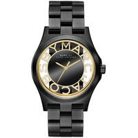 Marc Jacobs Women's 'Henry' Black Stainless Steel Watch