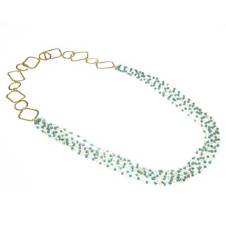 Haya Blue Green Bead Fashion Handmade Necklace (India)