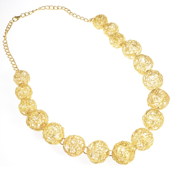 Haya Handwoven Gold Bead Fashion Necklace (India)