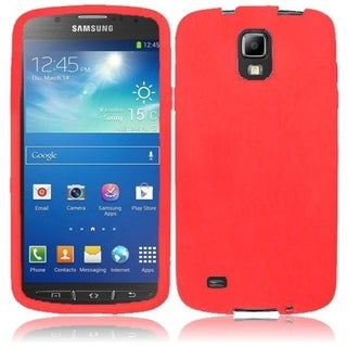 INSTEN Premium Red Rubber Soft Silicone Soft Skin Gel Phone Case Cover for Samsung Galaxy S4 Active