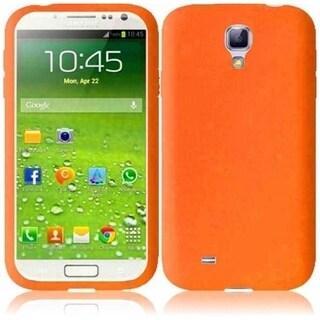 INSTEN Orange Rubber Soft Silicone Soft Skin Gel Phone Case Cover for Samsung Galaxy S4 LTE/ S4