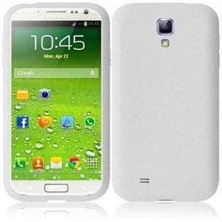 INSTEN White Rubber Soft Silicone Soft Skin Gel Phone Case Cover for Samsung Galaxy S4 LTE/ S4