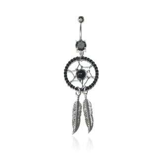 Supreme Jewelry Surgical Steel Beaded Dream Catcher Belly Ring