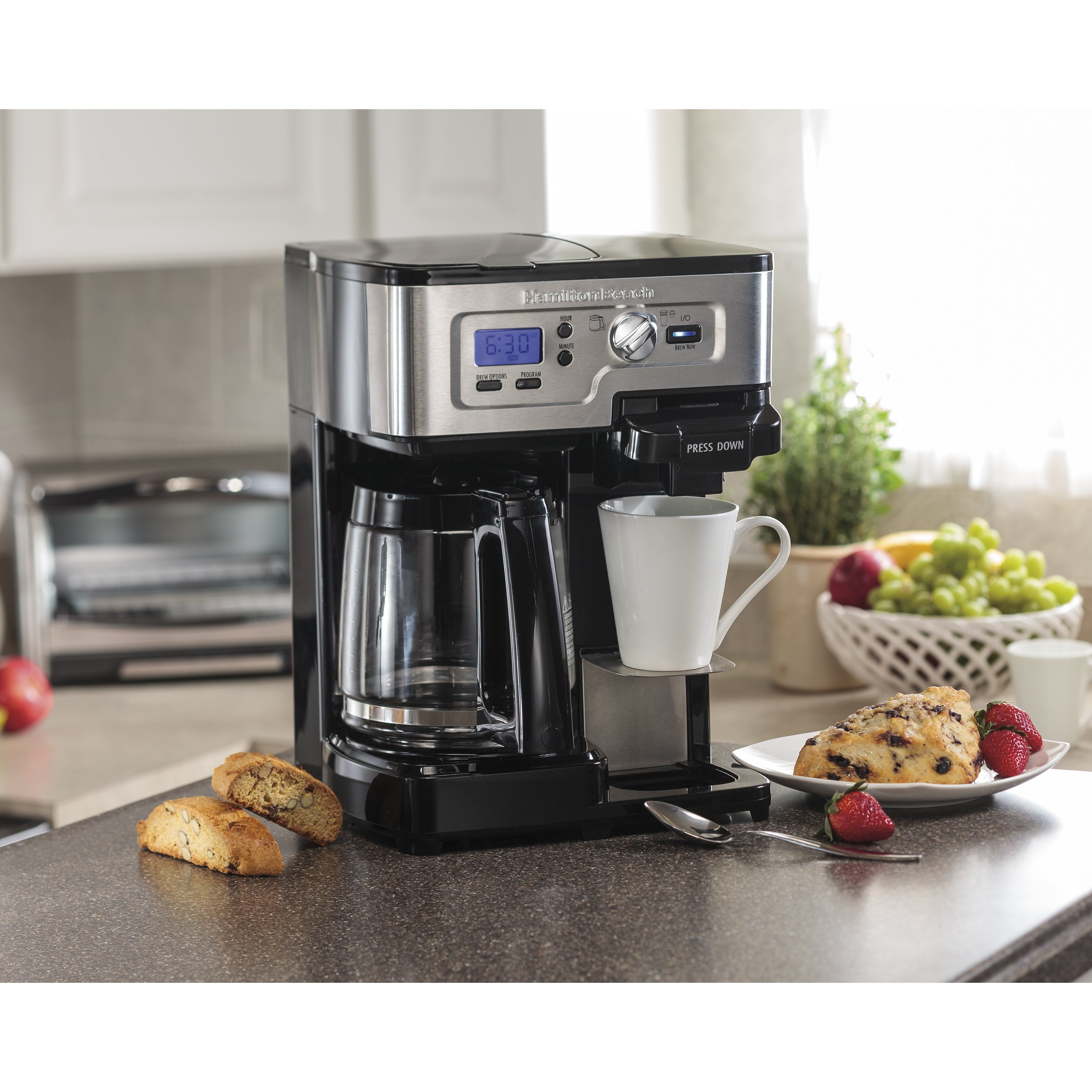 Hamilton Beach Black Programable 2-Way Brewer Coffee Make...