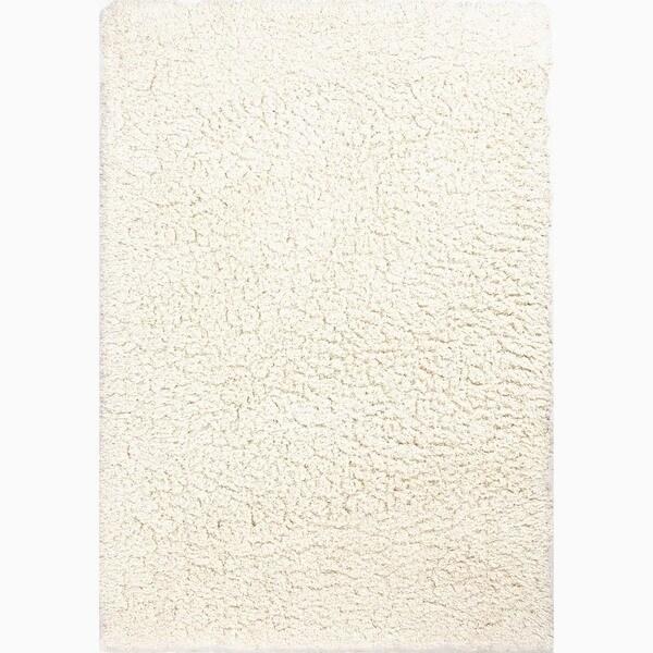 Nixon Handmade Solid White Area Rug (5' X 8') - 5' x 8'