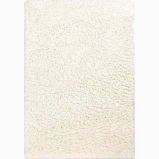 Nixon Handmade Solid White Area Rug (8' x 10')