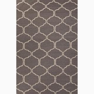Handmade Geometric Gray/ Silver Area Rug (9' X 12')