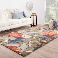 Clemente Handmade Floral Multicolor/ Gray Area Rug (9' X 12') - 9 x 12