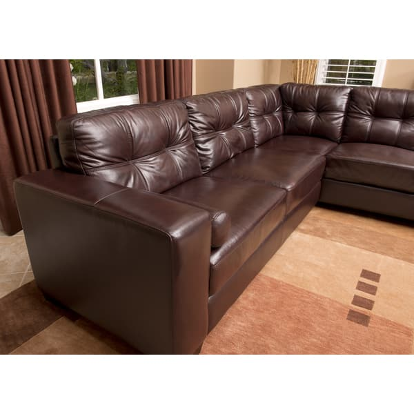 Fine Shop Burgundy Palermo Italian Leather Sectional Sofa And Machost Co Dining Chair Design Ideas Machostcouk