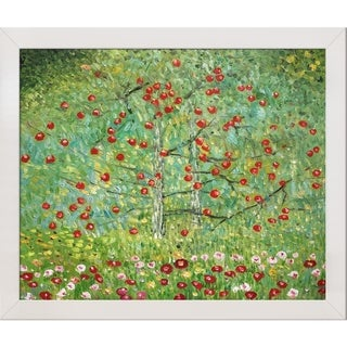 Gustav Klimt 'The Apple Tree' Hand Painted Framed Canvas Art