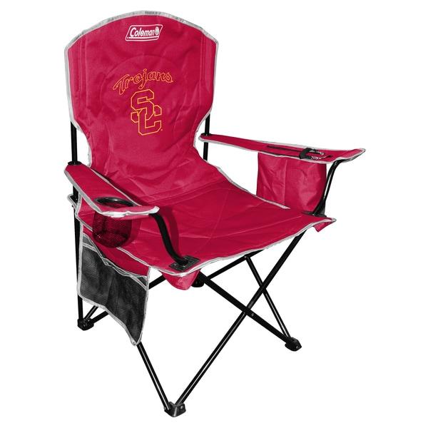 Coleman NCAA USC Trojans XL Cooler Quad Chair