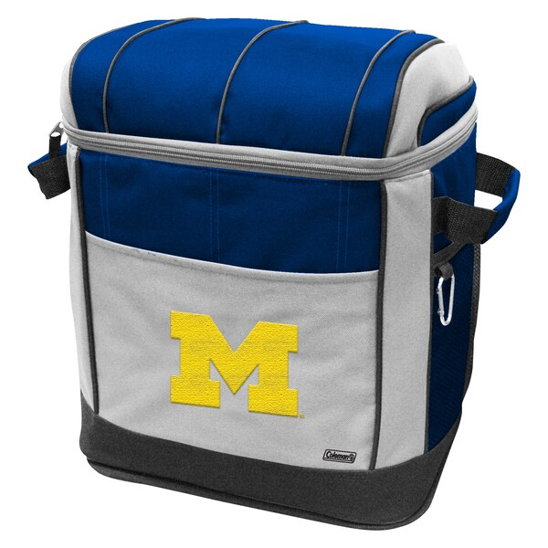 Coleman NCAA Michigan Wolverines 50-can Rolling Cooler
