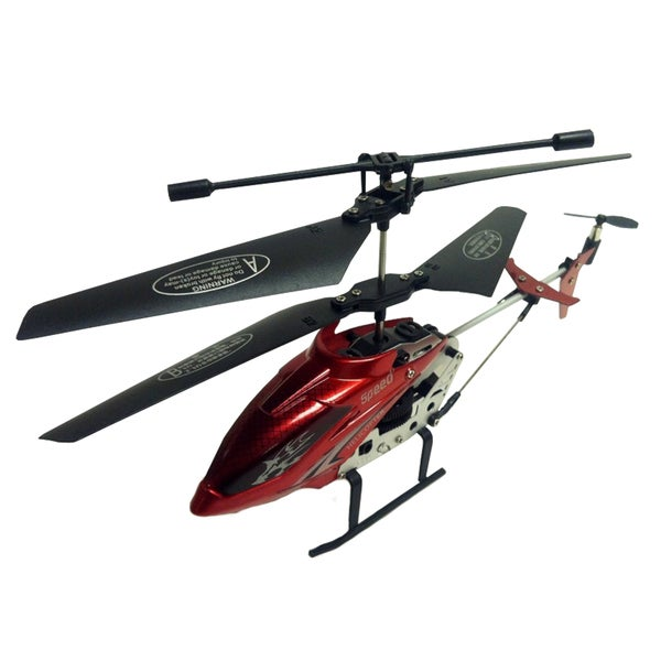 Infrared 3.5-Channel Remote Control Red Helicopter