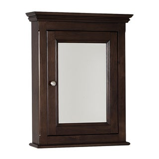 Perri Walnut Finish Reversible Door Medicine Cabinet