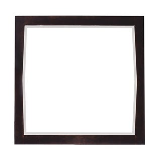 Roxy Square Antique Walnut Finish Wood Framed Mirror