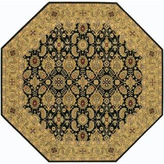 Royal Kashimar All Over Vase/Black-Deep Maple 6'6 Octagon Rug