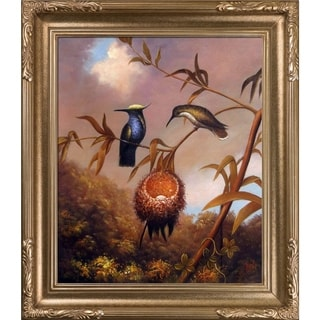 Martin Heade Black-Breasted Plovercrest Hand Painted Oil Reproduction