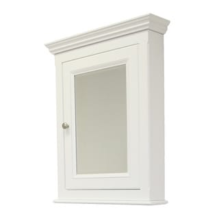 Perri White Reversible Door Wooden Medicine Cabinet