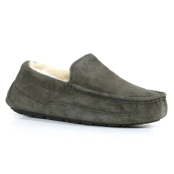 fde2a928811 Shop Ugg Men's Charcoal Ascot Slippers - Free Shipping Today ...