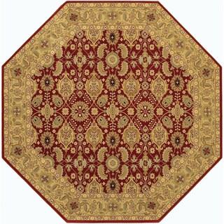 Royal Kashimar All Over Vase Persian Red Area Rug (6u00276 Octagon)