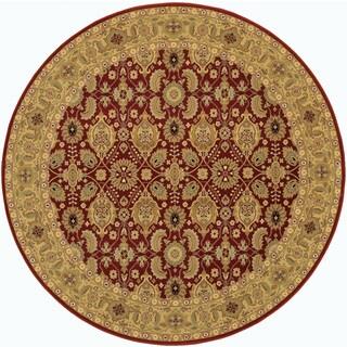 Royal Kashimar All Over Vase Persian Red Rug (4'6 Round)
