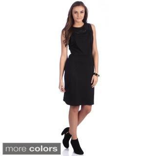 Amelia Women's Black Leopard Yoke Pleated Bodice Dress https://ak1.ostkcdn.com/images/products/8572800/P15847325.jpg?impolicy=medium