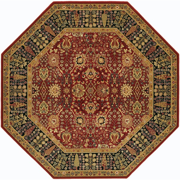 Bellagio Floral Traditions Persian Red Octagon Wool Area