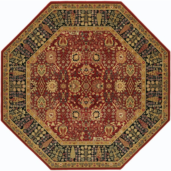 Royal Border Oriental Rug By Rug Culture: Shop Bellagio Floral Traditions Persian Red Octagon Wool