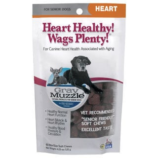 Ark Naturals Gray Muzzle Heart Healthy Treats for Senior Dogs (2 Pack)