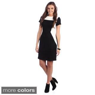 Amelia Women's Colorblocked Shoulder Yoke Dress