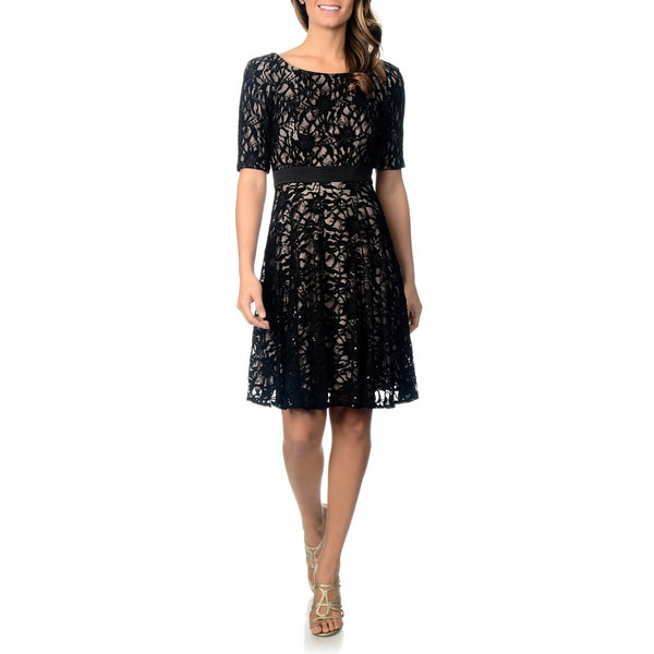 dd726107948 Shop Patra Women s Lace Cocktail Dress - Free Shipping Today - Overstock -  8572890