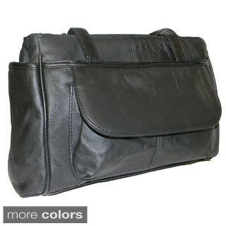 Hollywood Tag Leather Shoulder Bag (Option: Navy)|https://ak1.ostkcdn.com/images/products/8572913/Hollywood-Tag-Cowhide-Leather-Shoulder-Bag-P15847397.jpg?impolicy=medium