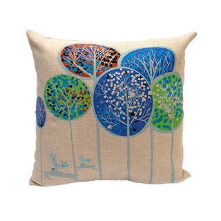 Holiday Forest Throw Pillow